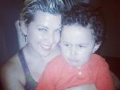 Laura y su hijo Esteban