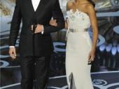 Zoe Saldana y Chris Pine en los Oscar 2013
